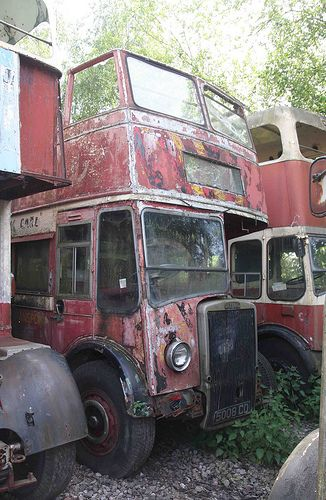 This former Brighton Corporation PD3 is parked in the London Bus Export compound at Lydney..jpg