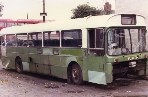 c1980 – ex London Country RP 38 – JPA 138 K at Wombwell Diesel – BUSES IN  SCRAP-YARDS